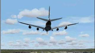 Just for fun, FS2004 - A380 Singapore Airlines landing Frankfurt Main Germany