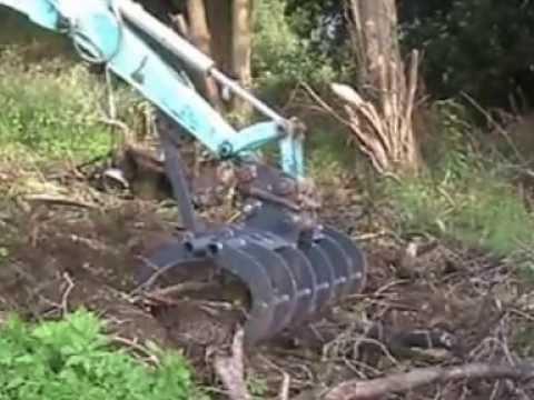 Excavator Land Grapple Youtube
