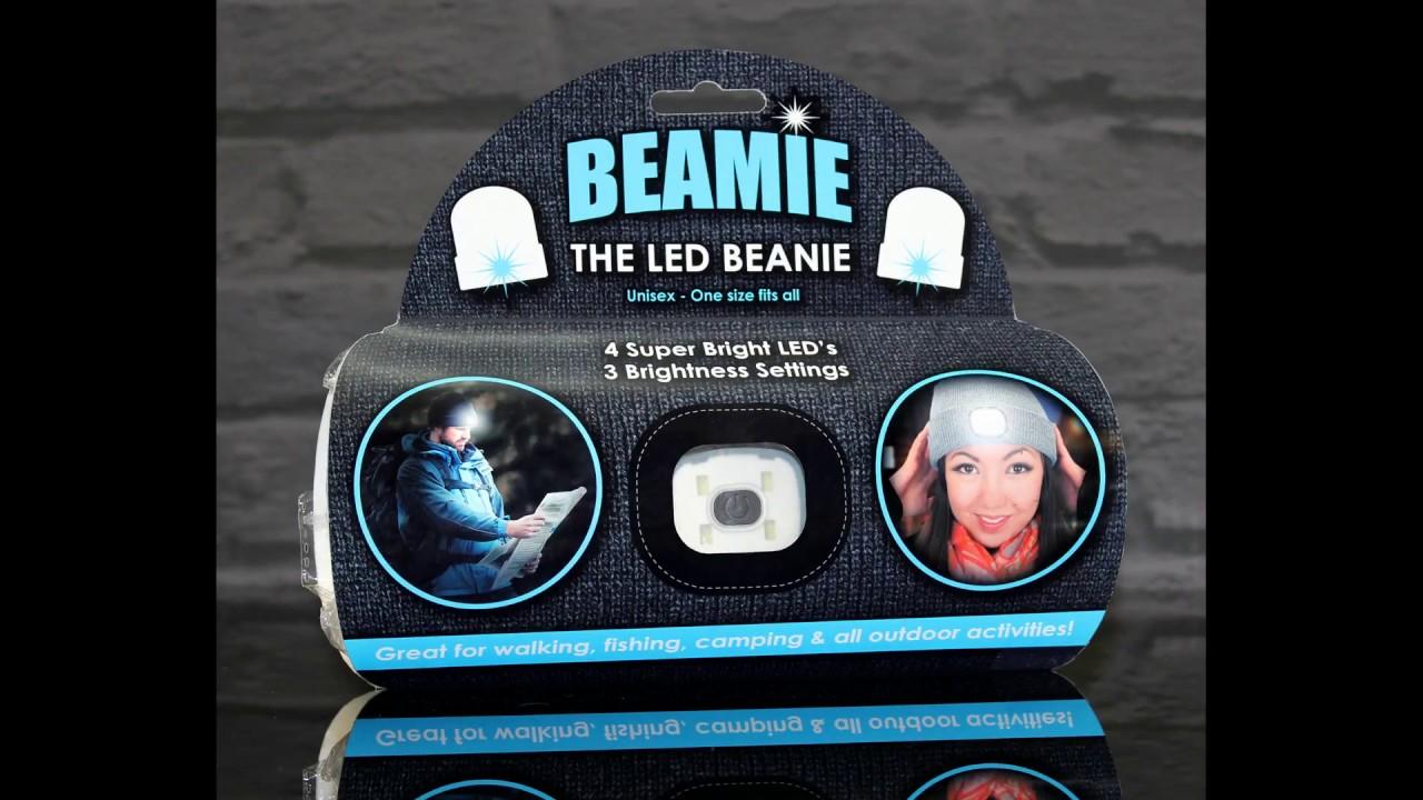 2e6e3d3d315 Beamie - The LED Beanie Hat (Ref  300 Black   302 Grey) by DZine ...