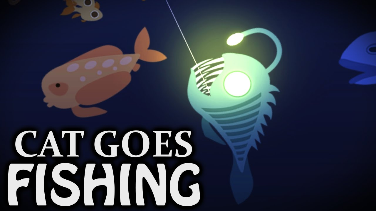 Anglerfish on cat goes fishing kootra let 39 s play hub for Cat fishing game