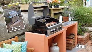 BBQ area makeover - how to build a block BBQ