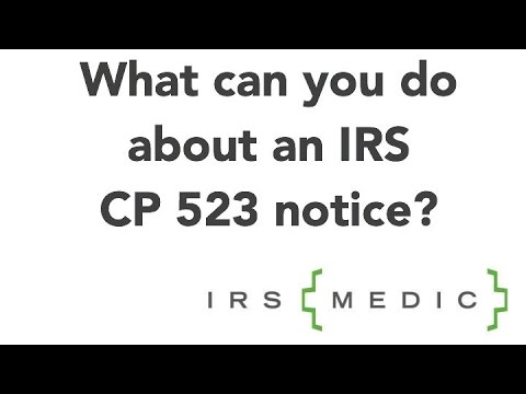 What To Do If You Receive Irs Notice Cp523 Youtube