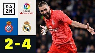 Karim Benzema glänzt mit Doppelpack: Espanyol - Real Madrid 2:4 | La Liga | DAZN Highlights
