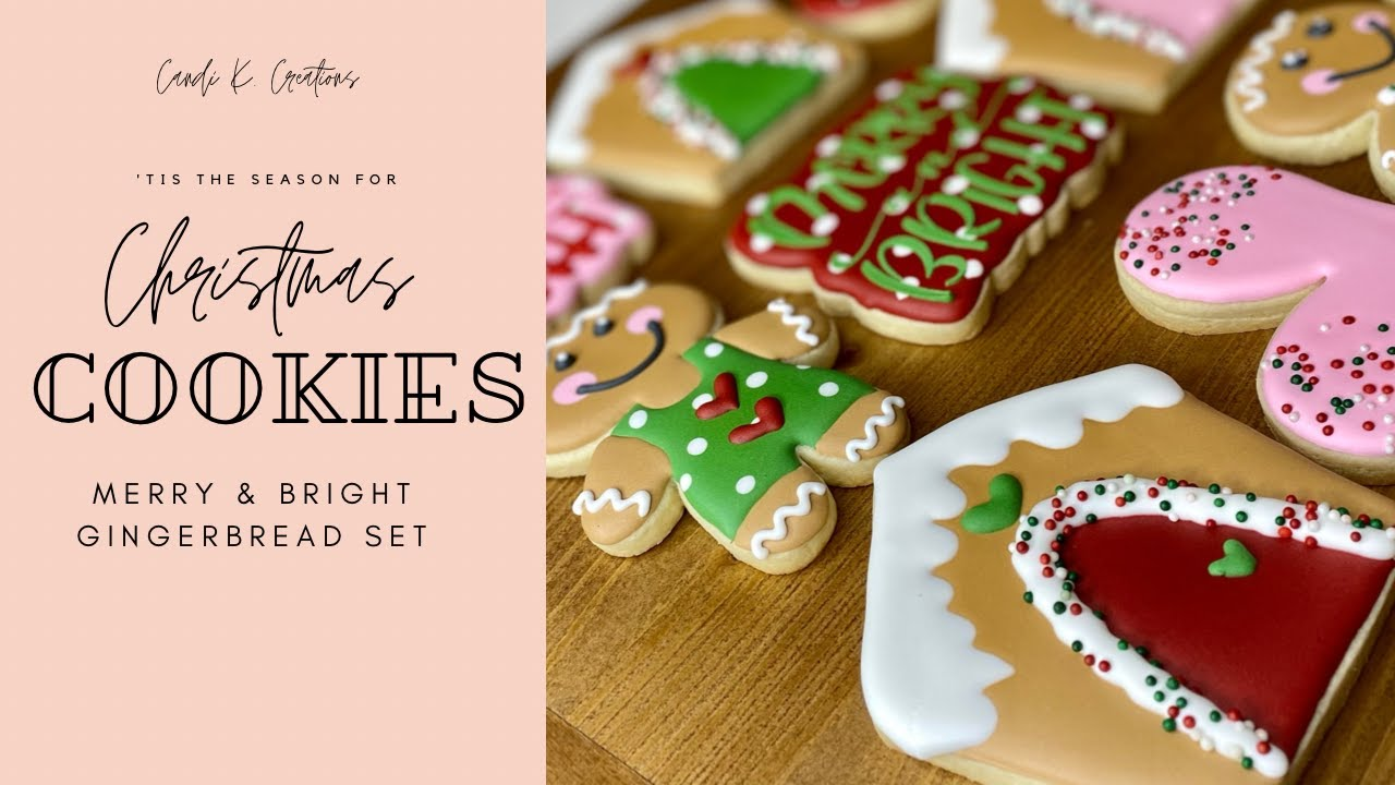 Christmas Cookie Decorating  Merry & Bright Gingerbread Set