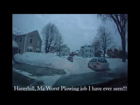 Haverhill Ma Worst plowing EVER!!