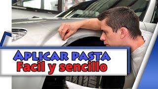Como aplicar pasta automotriz (automotive putty)