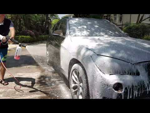 How to use MJJC foam cannon with MJJC car wash shampo (snow foam)