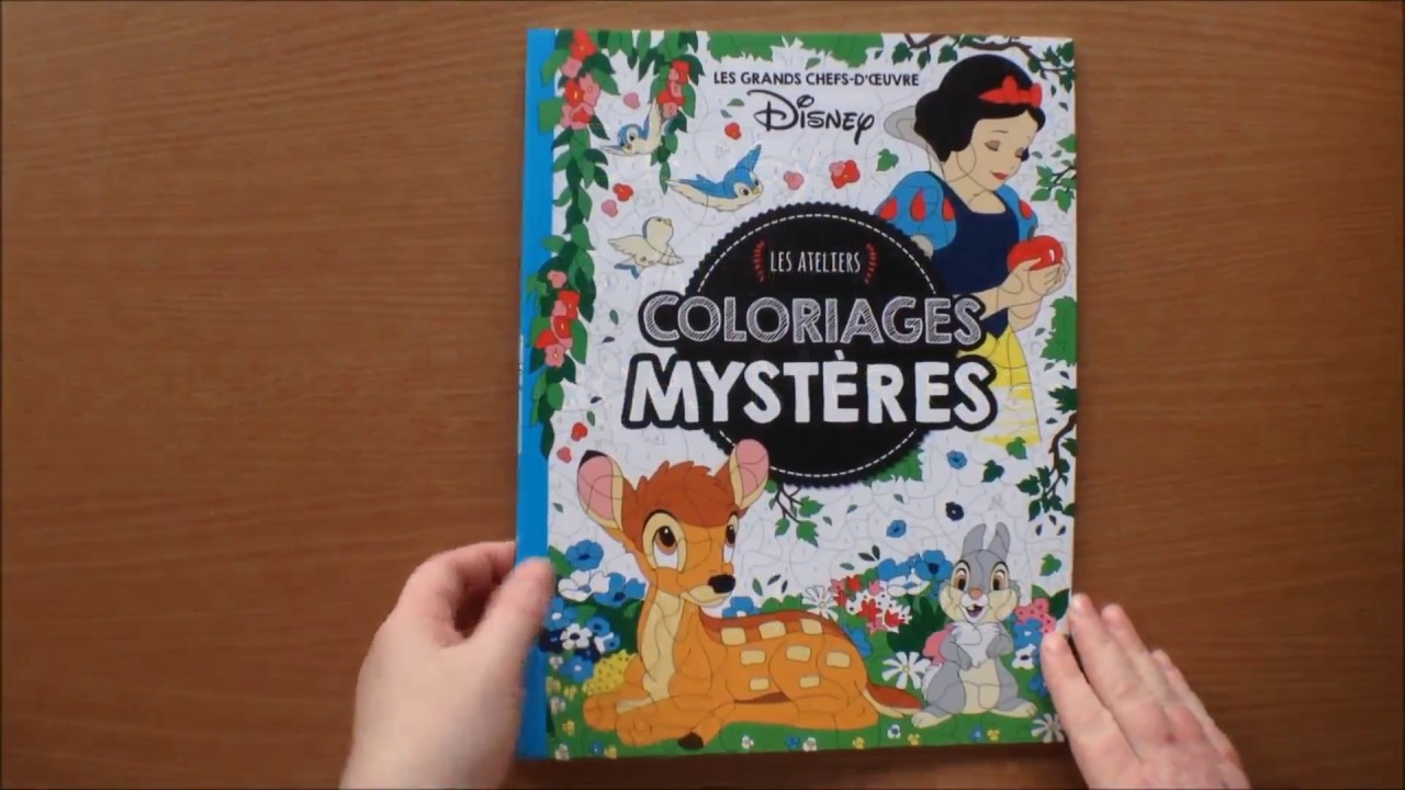 Disney les ateliers coloriages mysteres (Colour by Numbers) Colouring Book  Flip through
