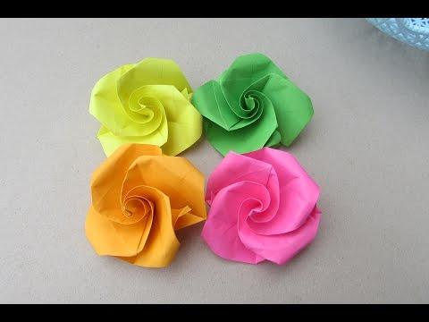 Easy Origami Flower for Beginner| How to make paper flower?| DIY-crafts Tutorial