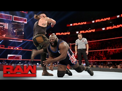 Mark Henry vs. Braun Strowman: Raw, Feb. 13, 2017