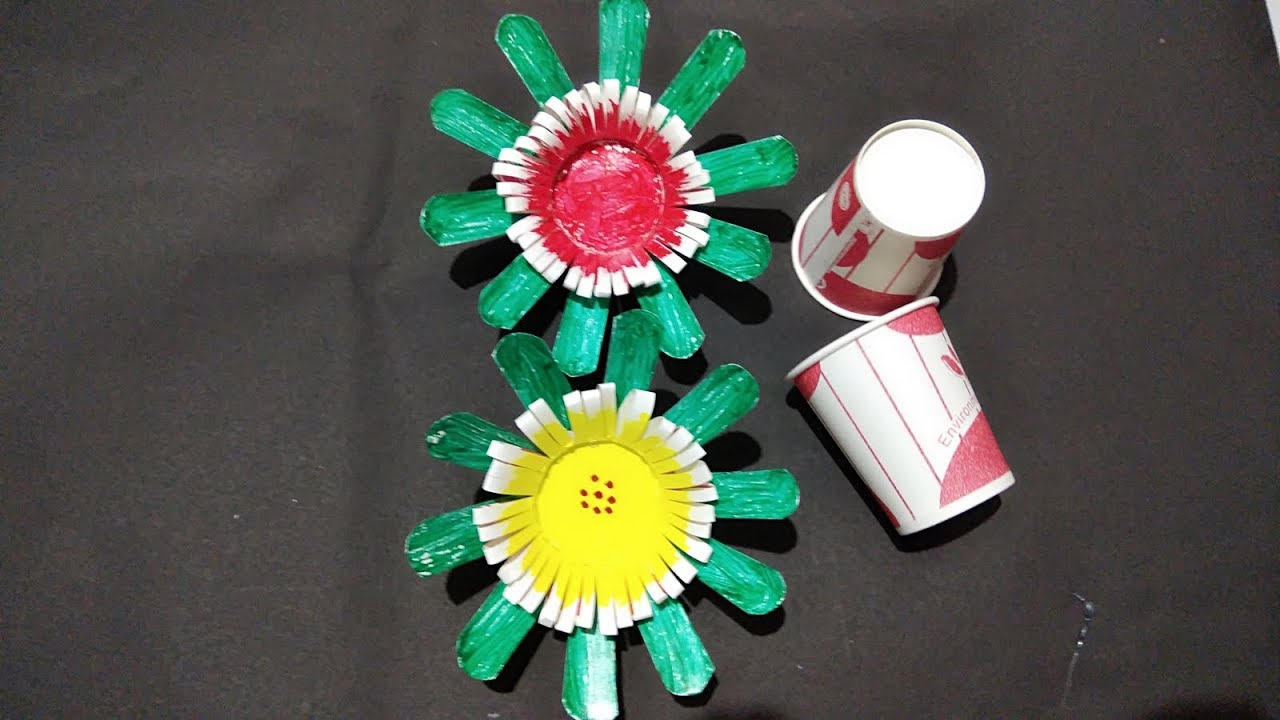 Diy Reuse Of Disposable Paper Cup Diy Art And Craft Idea Best