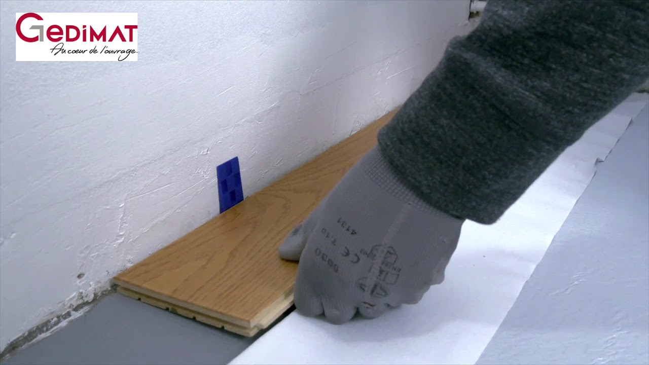 poser un parquet massif gedimat ma maison de a z youtube. Black Bedroom Furniture Sets. Home Design Ideas