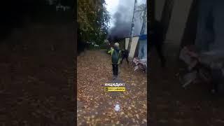 Новосибирск. Пожар на Адриена Лежена.