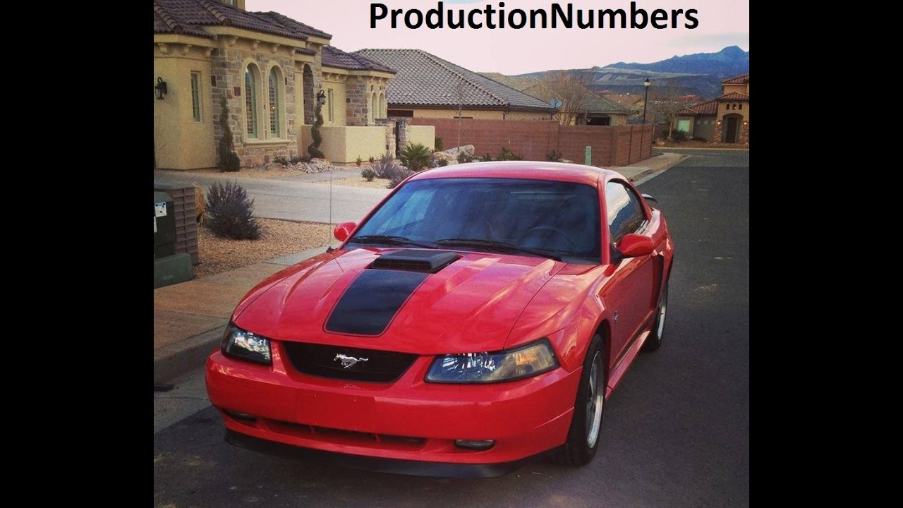2003 2004 ford mustang mach 1 production numbers youtube. Black Bedroom Furniture Sets. Home Design Ideas