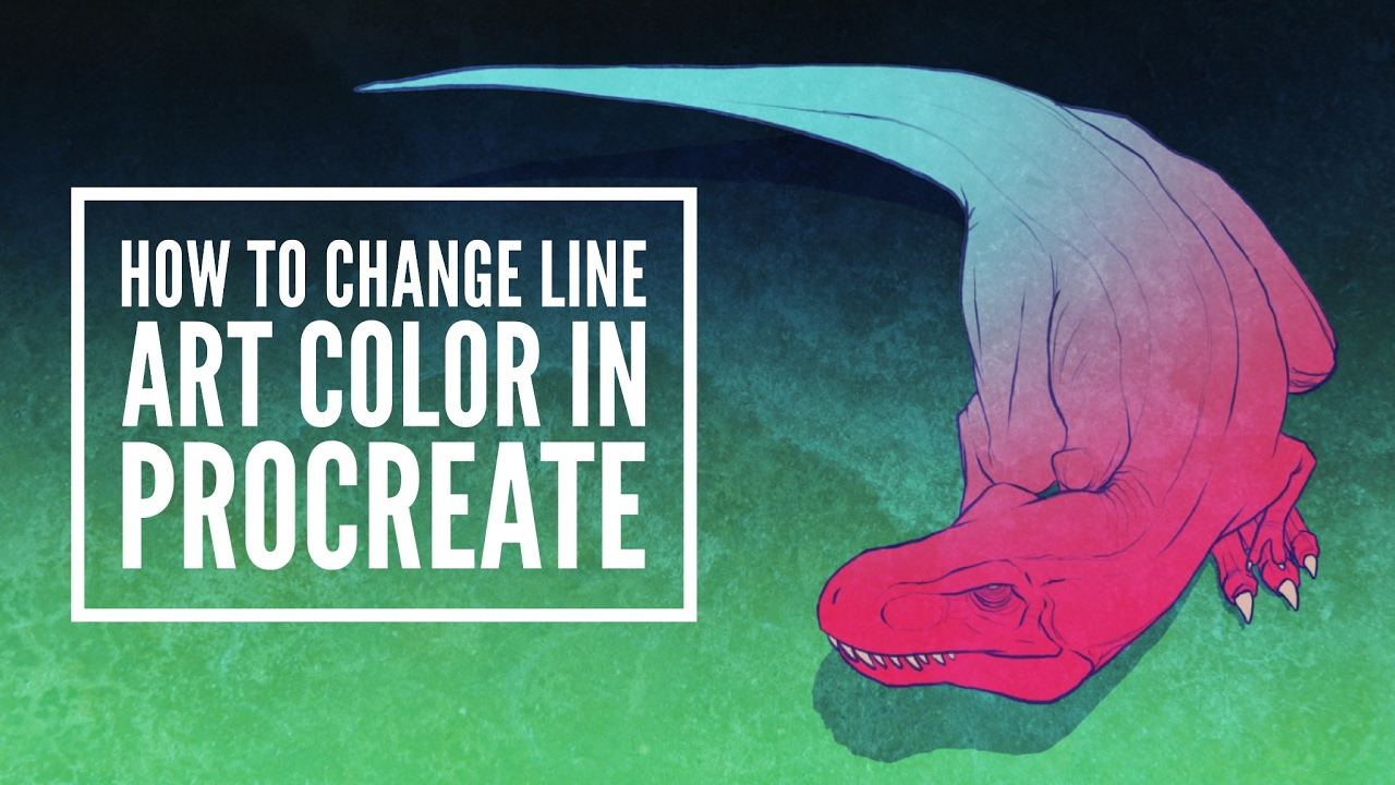 How to Change Line Art Color In Procreate - YouTube