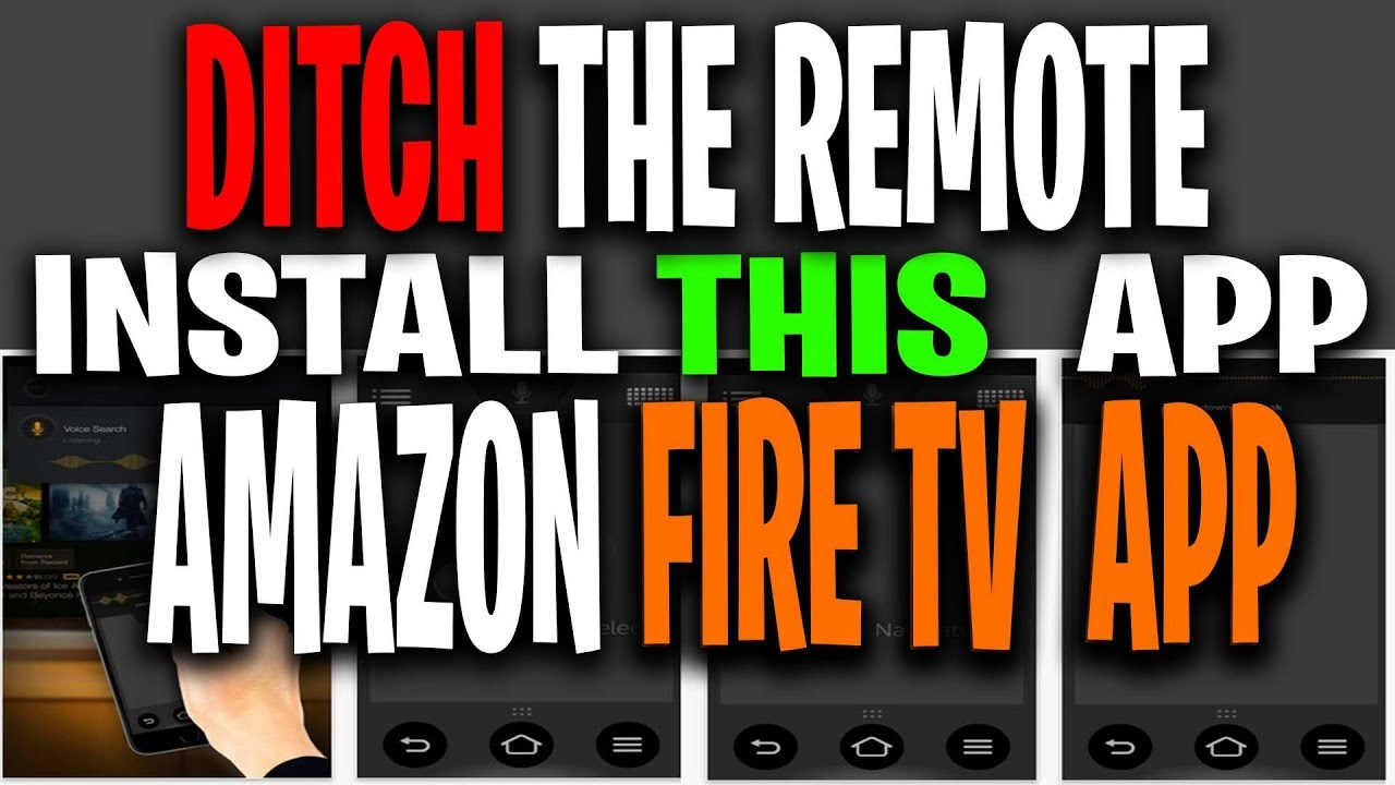 Amazon Firestick Remote on Android and Iphone - Control All Amazon Fire  Tv's From One App