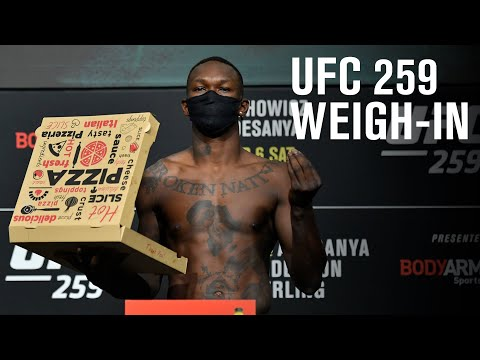 UFC 259: Blachowicz vs Adesanya - Weigh-in