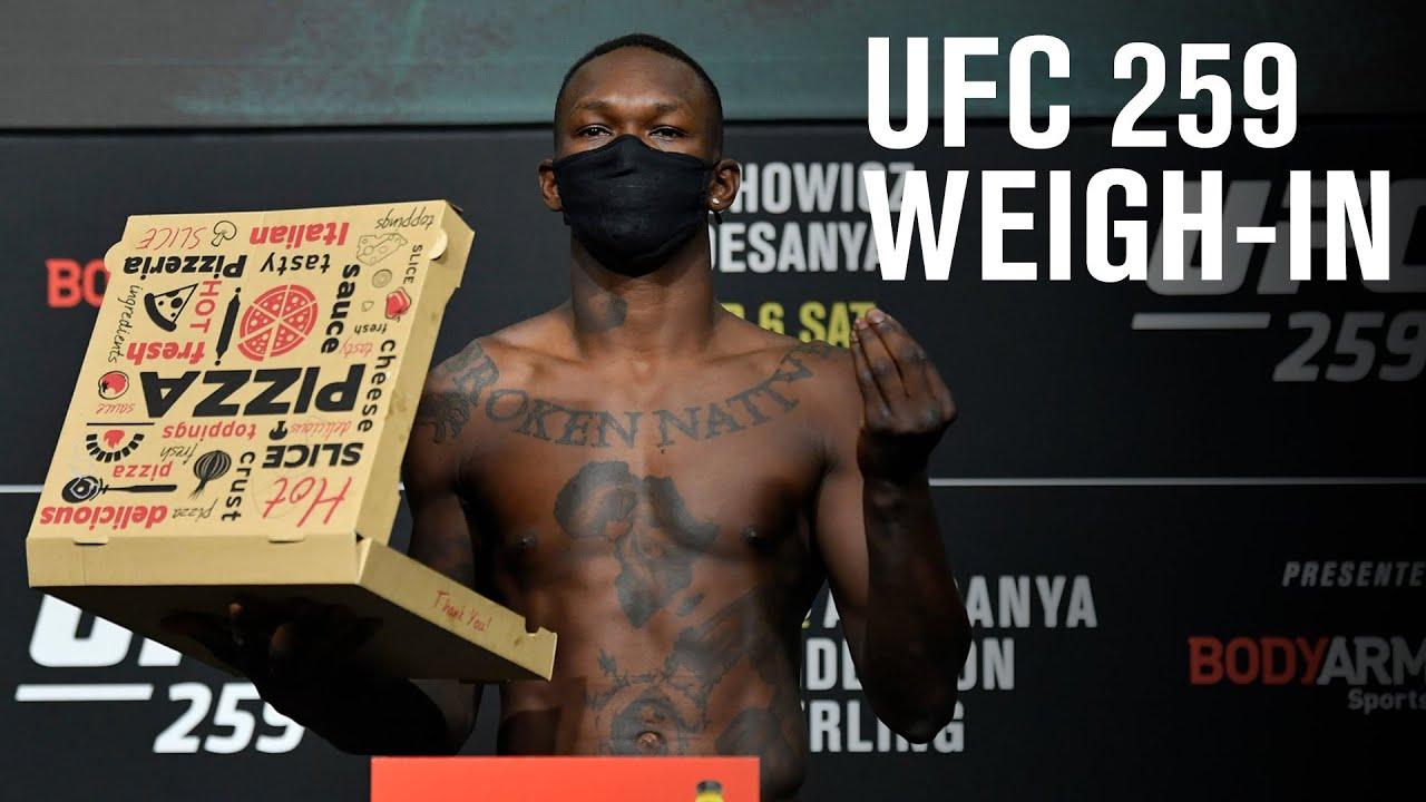 UFC 259: Blachowicz vs Adesanya - Weigh-in