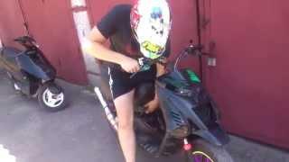 Бешеный скутер!!! Супер тюнинг!