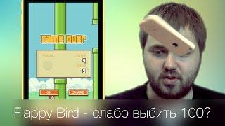 Flappy Bird - вызов, слабо набрать 100?