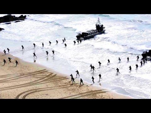 Royal Marines Storm The Beach