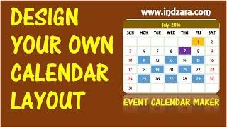 Event Calendar Maker Excel Template -  Design your own Calendar Layout
