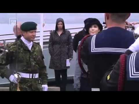 Crown Princess Mary baptises Marine Home Guard vessel (2011)