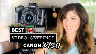 BEST CAMERA SETTINGS for Vlogging on Canon M50 Mirrorless