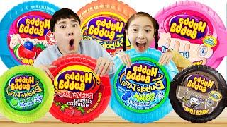 후바부바 풍선껌 락캔디 뽀로로사탕으로 컬러송 핑거송 불러요! Hubba Bubba Nursery Rhymes Kids Color Songs 슈슈토이 Shushu ToysReview