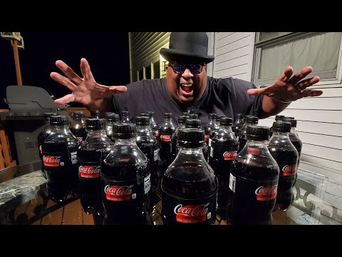 How Many Bottles of Coke Zero Can Badlands Chug In 3 Minutes? Watch & See!