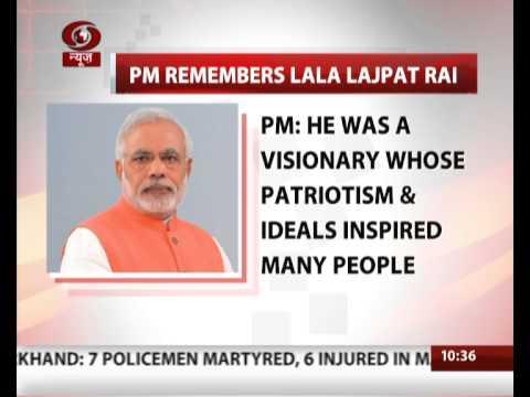PM remembers Lala Lajpat Rai