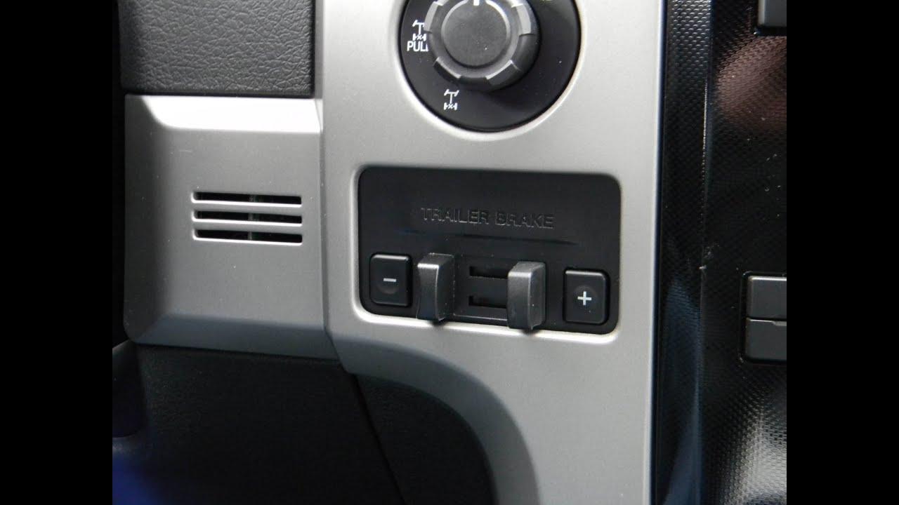 hight resolution of 2010 14 ford f150 ecoboost oem trailer brake controller installation