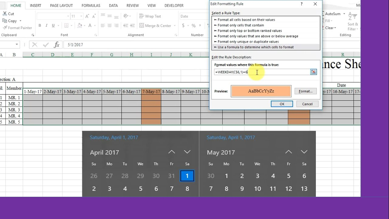 Cell color change based on Date/Value change in excel by using Conditional  Formatting