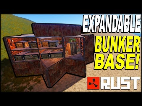 EXPANDABLE BUNKER BASE! - SOLO/DUO/TRIO - RUST BASE DESIGN 2019 - (FULL TUTORIAL) thumbnail
