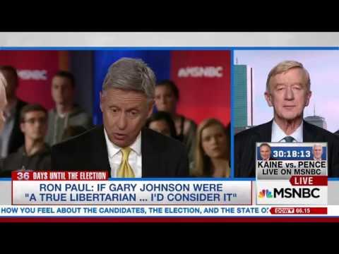 Libertarian VP Candidate Bill Weld On Donald Trump Tax News