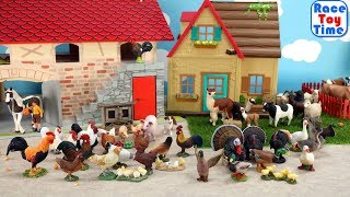 Farm Barn House and Pet Animals Toys For Kids - A day at the Farm