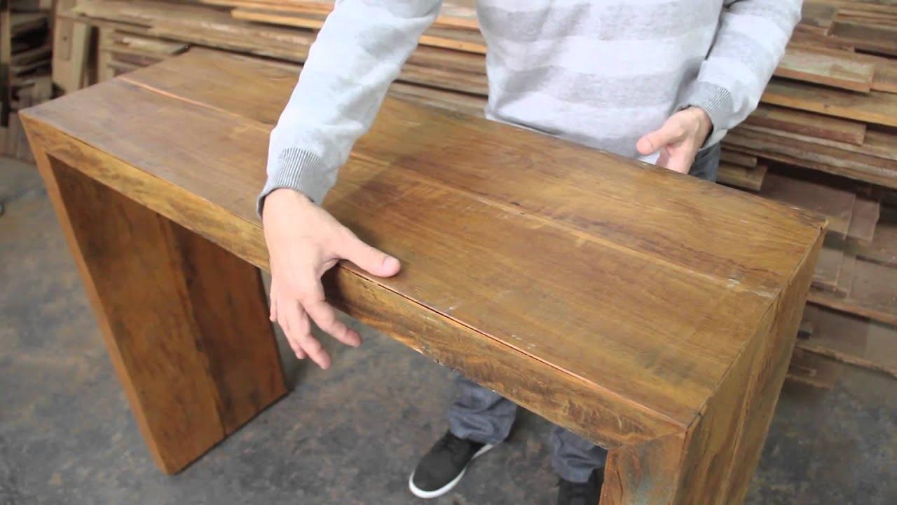Armario Escobero Aki ~ Aparador Rustico em madeira de demolicao Moveis rusticos Moveis de madeira modernos sp MOV YouTube