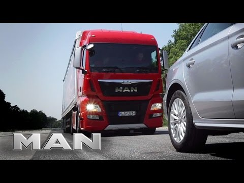 MAN  EBA - emergency braking system.