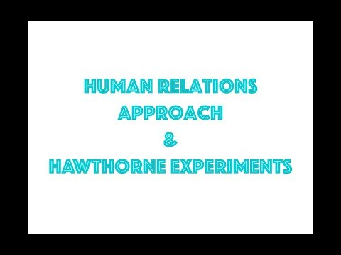 Human relations approach & Hawthorne experiments (explained in great detail!)