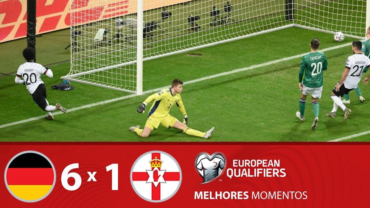 ALEMANHA 6 X 1 IRLANDA DO NORTE - Melhores Momentos - Eliminatórias da Euro (19/11/19)