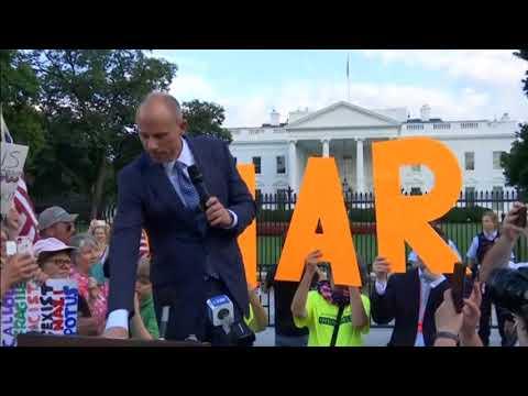 Michael Avenatti and Alyssa Milano Lead 2nd Night Of Protests Outside The White House