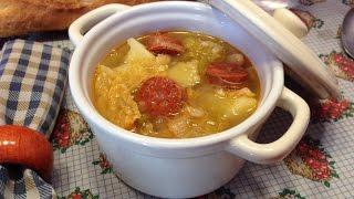 Sopa de berza y alubias blancas    Col o repollo