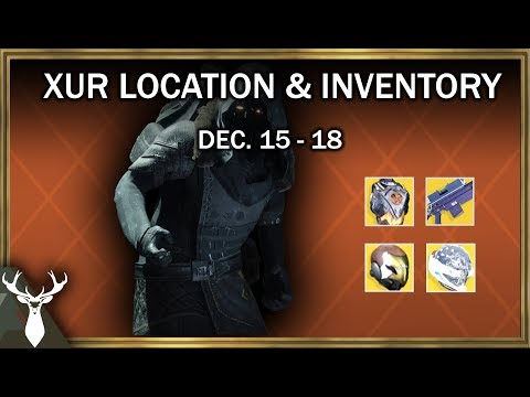 Destiny 2 - Xur Inventory and Location (Dec. 15 - 18)