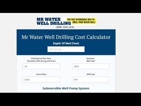 Water Well Drilling Calculator