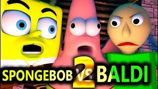 BALDI'S BASICS VS SPONGEBOB 2! (Official) Baldi Minecraft Animation Horror Game