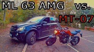 yamaha mt 07 fz 07 vs ml 63 amg   streetrace dragrace soundcheck