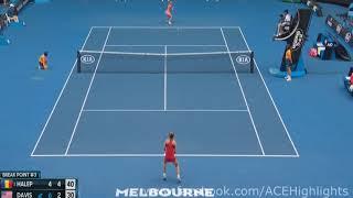 Simona Halep vs Lauren Davis 2018/01/20 3rd Round