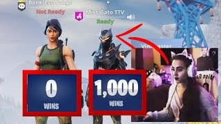 can SHE get me my FIRST win on Fortnite Season 7?!