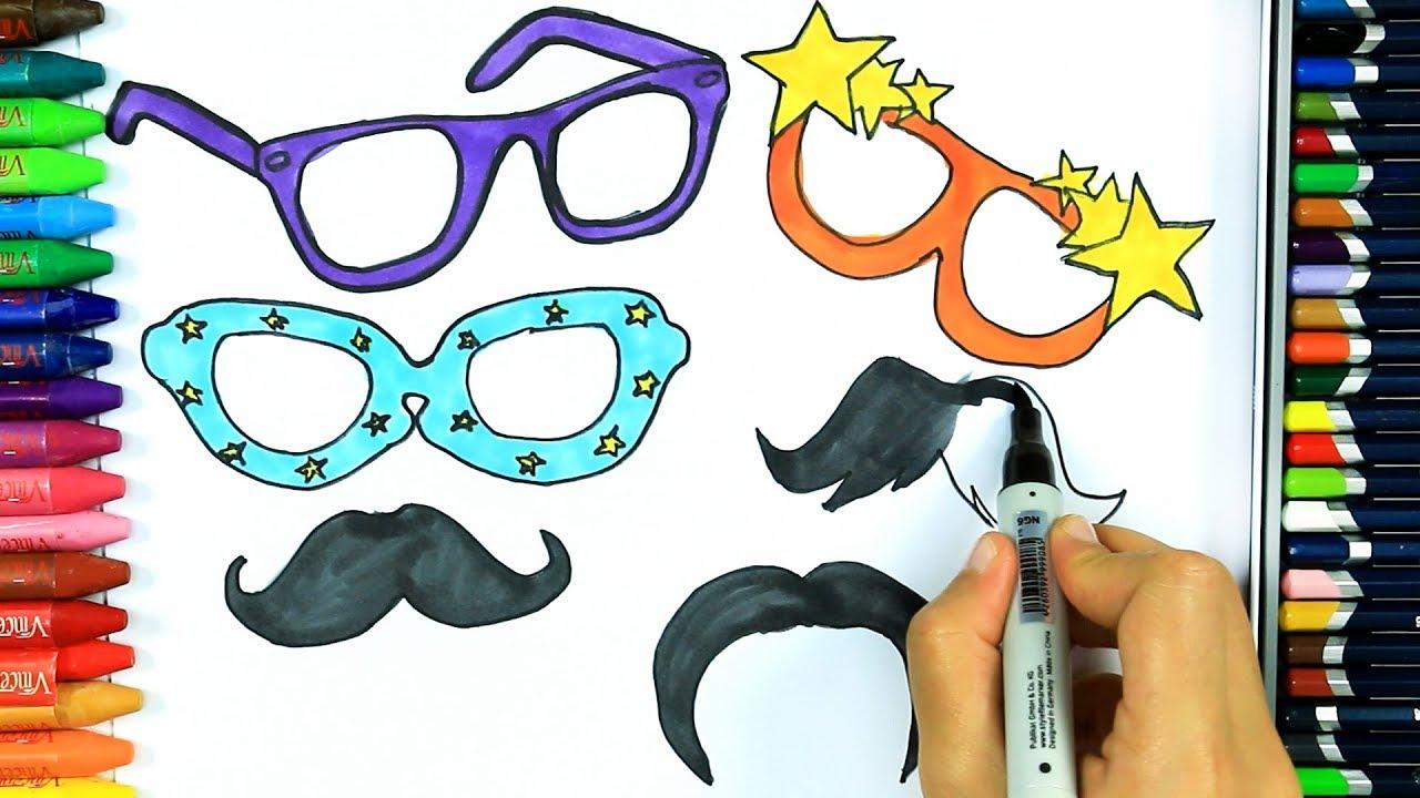 Wie Zeichnet Man Party Sonnenbrille Ausmalen Kinder Malen Fur