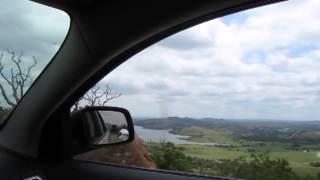 Driving to the top of Mount Scott near Lawton Oklahoma